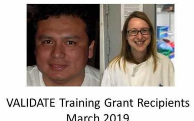 VALIDATE training grant recipients March 2019