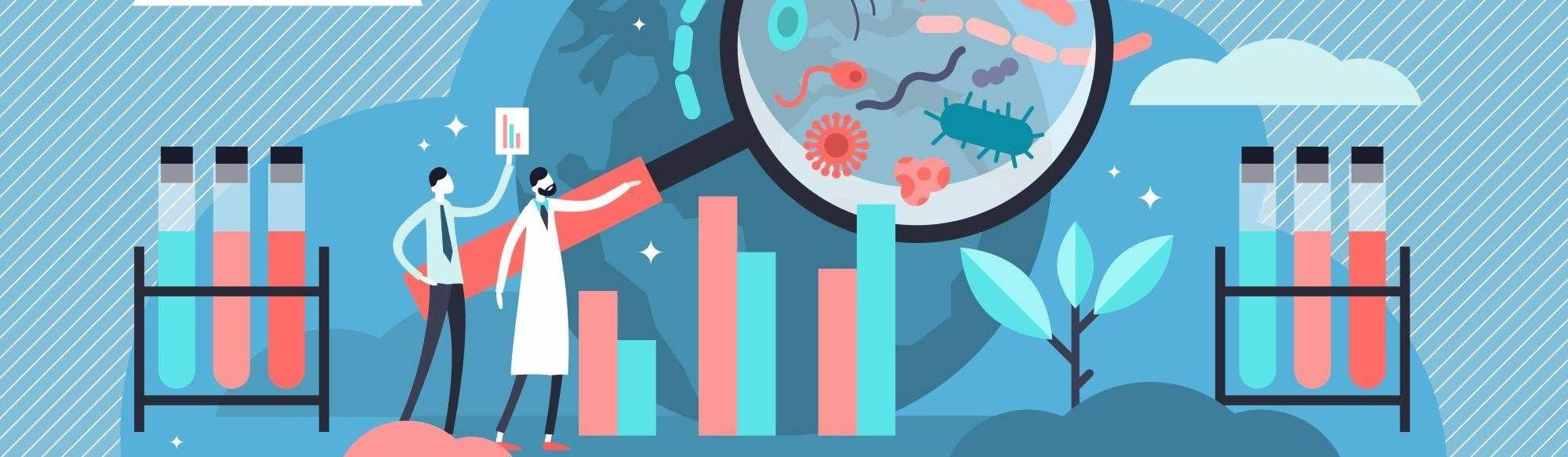 Epidemiology Vector Illustration